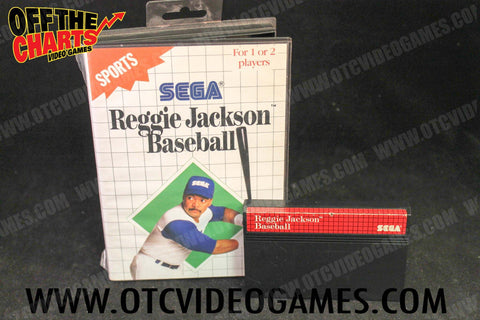 Reggie Jackson Baseball Sega Master System Game Off the Charts