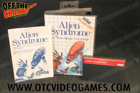 Alien Syndrome Sega Master System Game Off the Charts