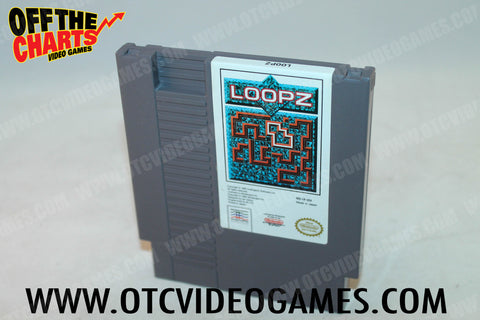 Loopz Nintendo NES Game Off the Charts