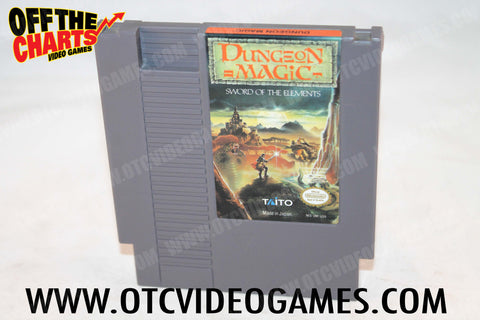 Dungeon Magic Nintendo NES Game Off the Charts