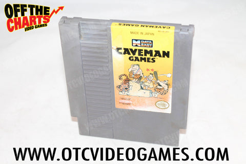 Caveman Games Nintendo NES Game Off the Charts