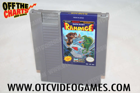 Rampage Nintendo NES Game Off the Charts