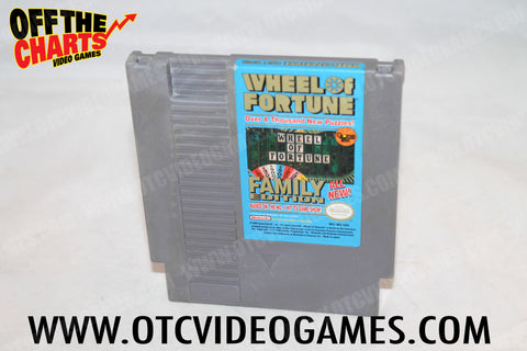 Wheel of Fortune Family Edition Nintendo NES Game Off the Charts