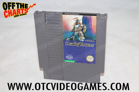 Deadly Towers Nintendo NES Game Off the Charts