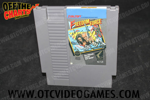 Freedom Force Nintendo NES Game Off the Charts