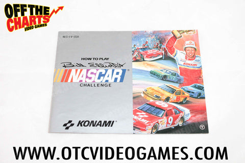 Bill Elliot's Nascar Challenge Manual Nintendo NES Manual Off the Charts