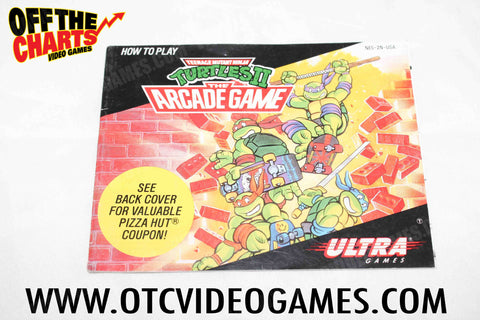 Teenage Mutant Ninja Turtles II The Arcade Game Manual - Off the Charts Video Games
