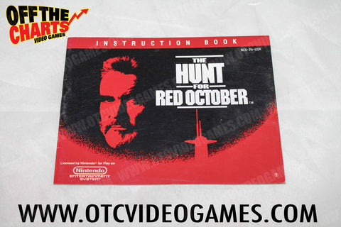 The Hunt For Red October Manual - Off the Charts Video Games