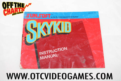 Skykid Manual - Off the Charts Video Games