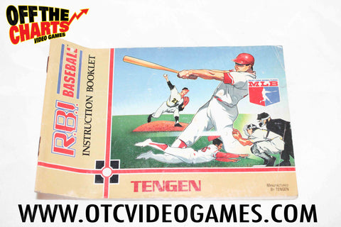 RBI Baseball Manual - Off the Charts Video Games