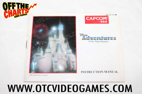 Disney Adventure in the Magic Kingdom Manual Nintendo NES Manuals Off the Charts