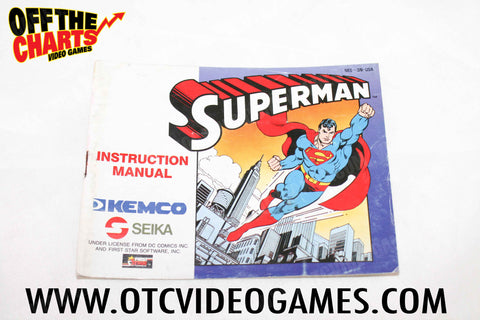 Superman Manual - Off the Charts Video Games