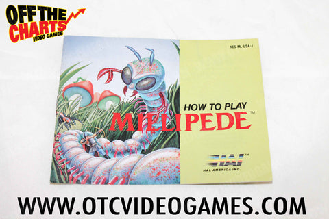 Millipede Manual Nintendo NES Manuals Off the Charts