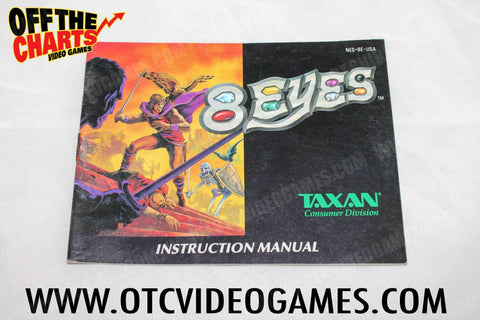 8 Eyes Manual Nintendo NES Manuals Off the Charts