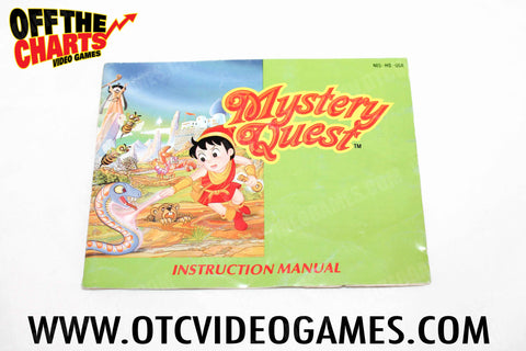 Mystery Quest Manual - Off the Charts Video Games