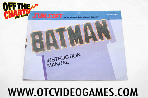Batman Manual Nintendo NES Manuals Off the Charts