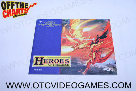 Advance Dungeons and Dragons: Heroes of the Lance Manual - Off the Charts Video Games
