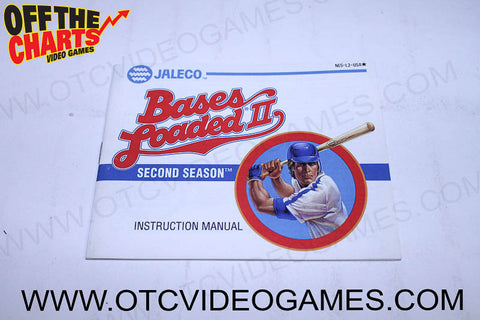 Bases Loaded II Manual - Off the Charts Video Games