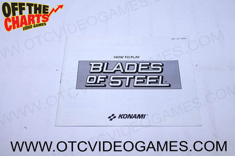 Blades of Steel Manual - Off the Charts Video Games