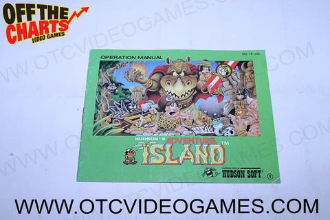 Adventure Island Manual - Off the Charts Video Games