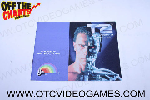 T2 Terminator 2 Judgement Day Manual Nintendo NES Manual Off the Charts