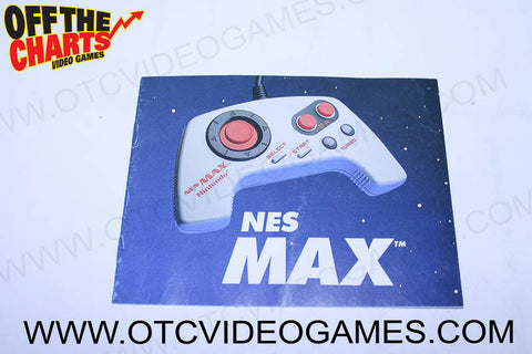NES Max Manual - Off the Charts Video Games