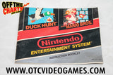 Super Mario Bros. Duck Hunt Manual Nintendo NES Manual Off the Charts