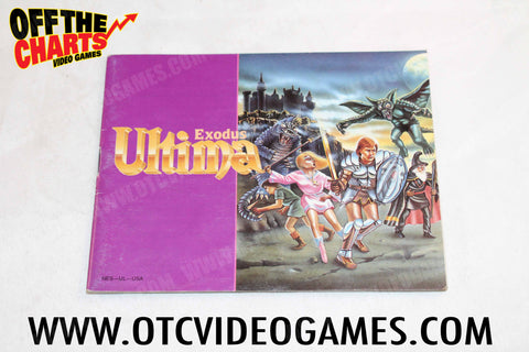 Ultima Exodus Manual - Off the Charts Video Games