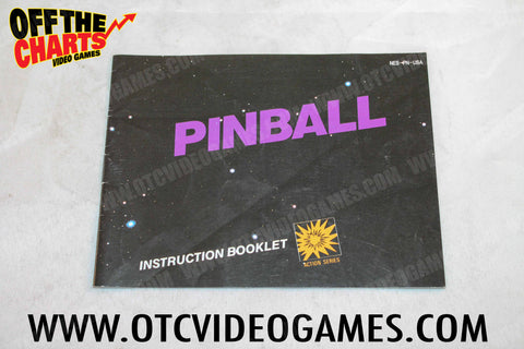 Pinball Manual Nintendo NES Manual Off the Charts