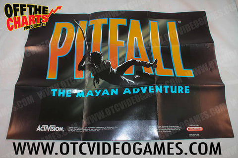 Pitfall The Mayan Adventure Poster Nintendo NES Manual Off the Charts