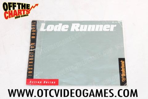 Lode Runner Manual Nintendo NES Manual Off the Charts