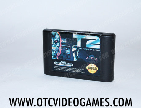 T2 The Arcade Game Sega Genesis Game Off the Charts