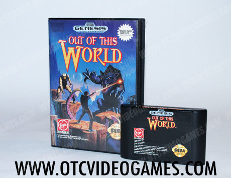 Out of this World Sega Genesis Game Off the Charts