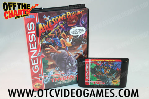 Awesome Possum Sega Genesis Game Off the Charts