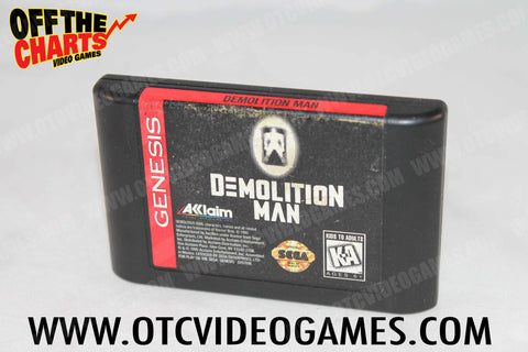 Demolition Man Sega Genesis Game Off the Charts