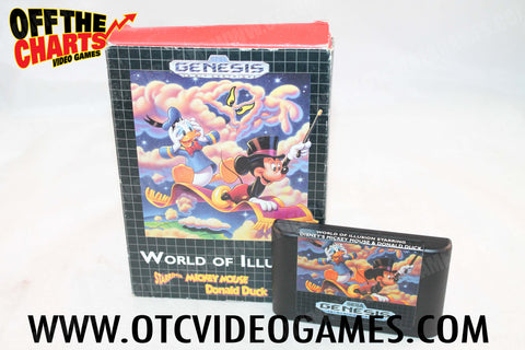 World of Illusion Sega Genesis Game Off the Charts