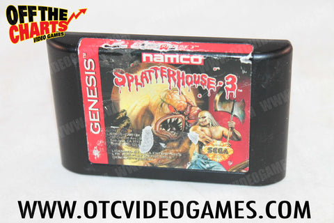 Splatterhouse 3 Sega Genesis Game Off the Charts