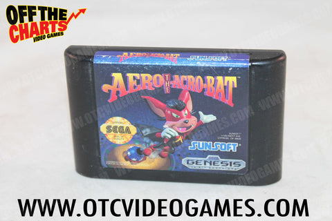 Aero the Acrobat Sega Genesis Game Off the Charts