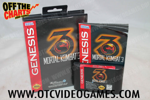 Mortal Kombat 3 Sega Genesis Game Off the Charts