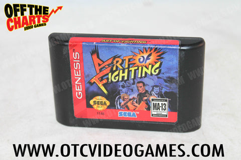Art of Fighting Sega Genesis Game Off the Charts