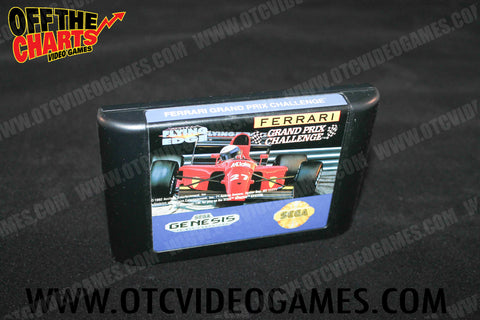 Ferrari Grand Prix Challenge Sega Genesis Game Off the Charts
