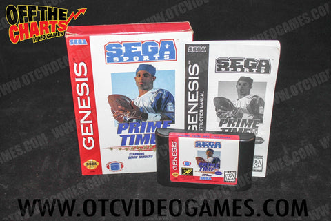 Prime Time NFL Football starring Deon Sanders Sega Genesis Game Off the Charts