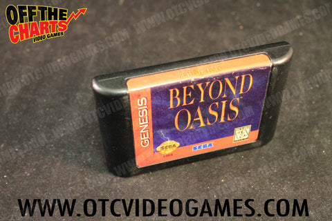 Beyond Oasis Sega Genesis Game Off the Charts