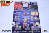 Acclaim's Dream Team Poster Sega Genesis Manual Off the Charts