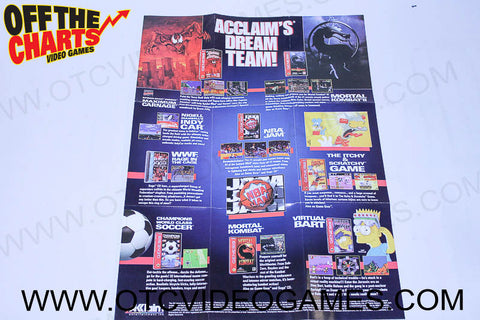 Acclaim's Dream Team Poster - Off the Charts Video Games