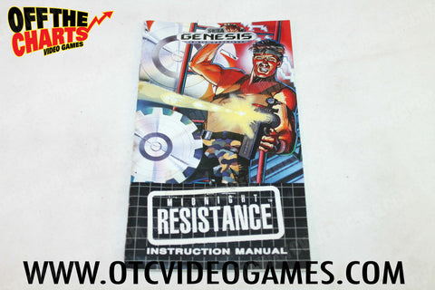 Midnight Resistance Manual Sega Genesis Manual Off the Charts