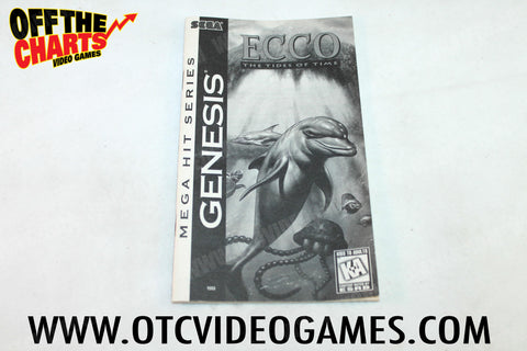 Ecco the Tides of Time Manual Sega Genesis Manual Off the Charts