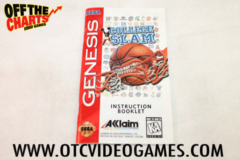 College Slam Manual Sega Genesis Manual Off the Charts