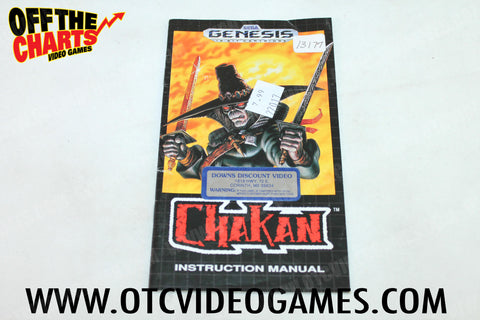 Chakan Manual - Off the Charts Video Games