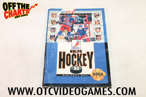 NHLPA Hockey '93 Manual - Off the Charts Video Games